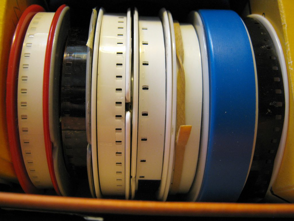 small reels of Kodak 8mm film